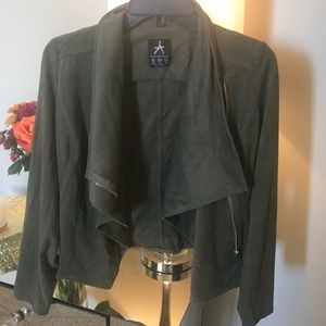 Jackets & Blazers - Green faux suede Jacket